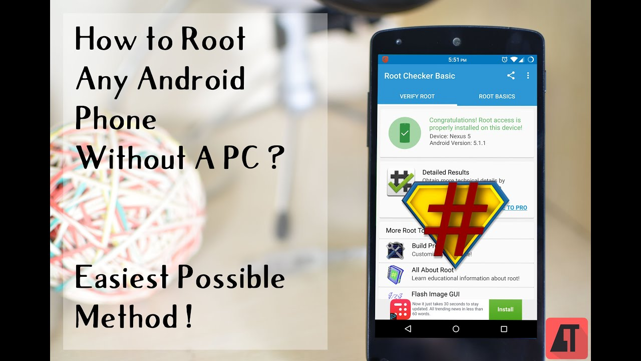 root any android phone without pc
