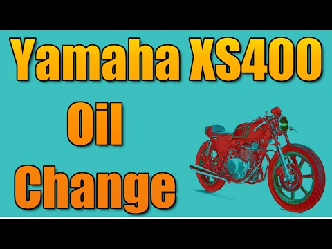 How to change the oil on a 1978 Yamaha XS400 motorcycle - YouTube