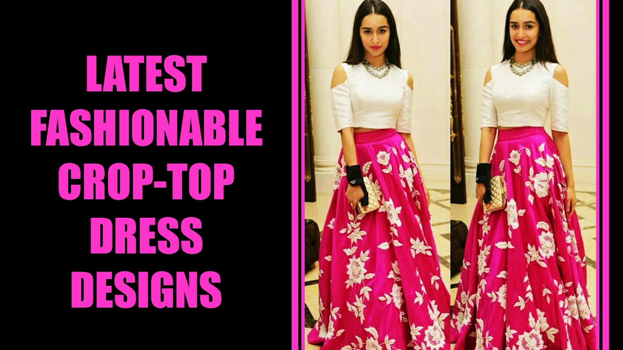 9b0a8469b Latest Fashionable Crop Top Dress Designs - YouTube