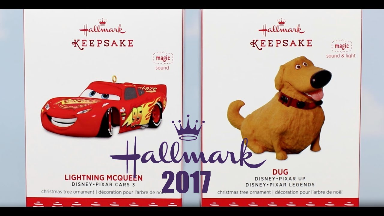 hallmark keepsake ornamentspixar 2017cars 3 lightning mcqueen dug - Hallmark Christmas Decorations 2017