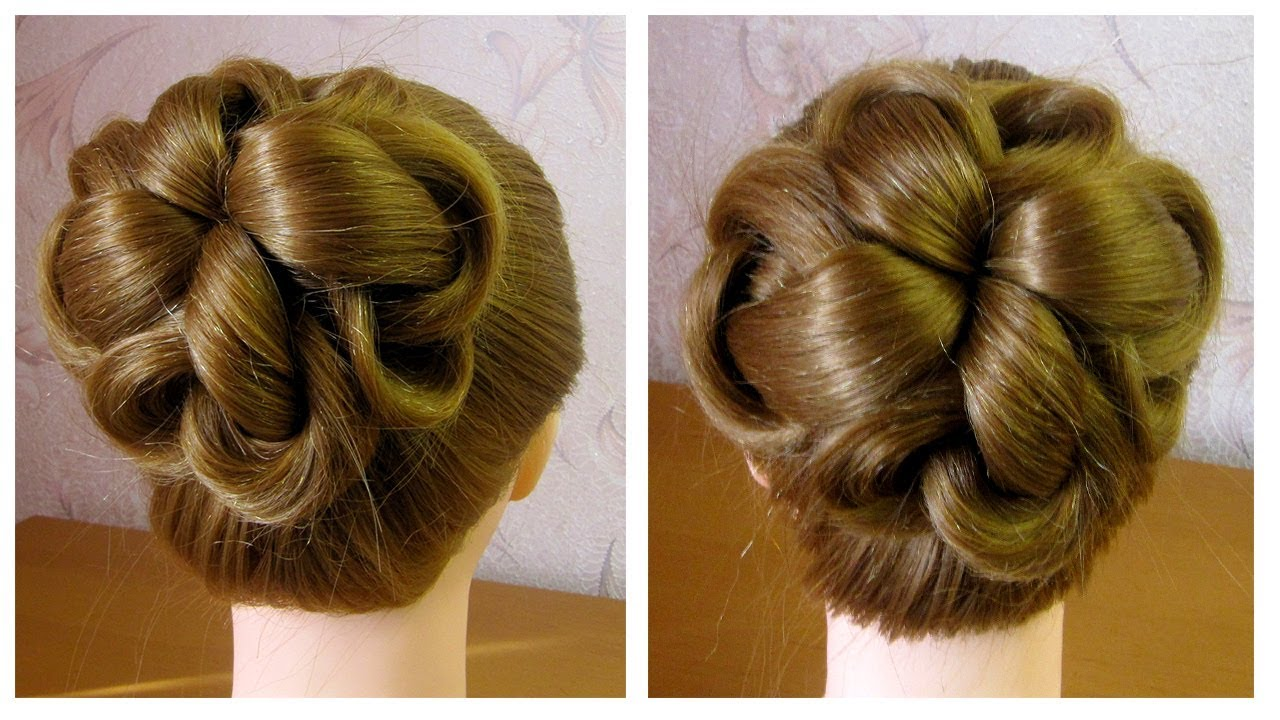Chignon Facile Coiffure Simple Et Rapide Cheveux Mi Long Long Easy Hair Bun Tutorial Youtube