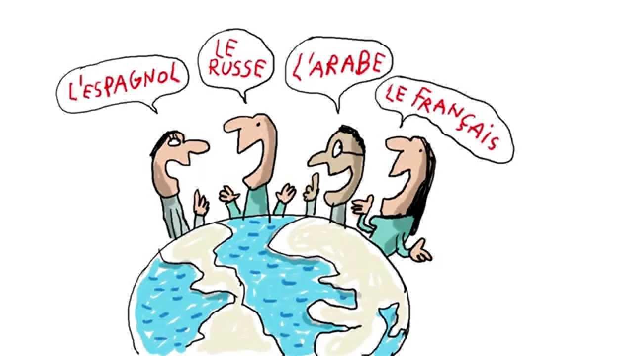 quelles sont les langues trangres les plus parles dans le monde 1 jour 1 question - Langue Dessin