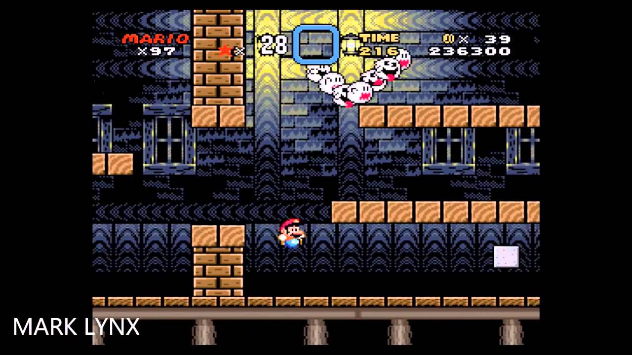 Super Mario World World 6 Choco Ghost House Exit 58 96 Youtube