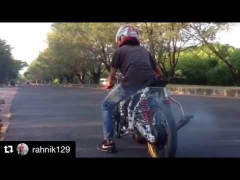 DRAG BIKE INDONESIA SETTING RXZ 140CC