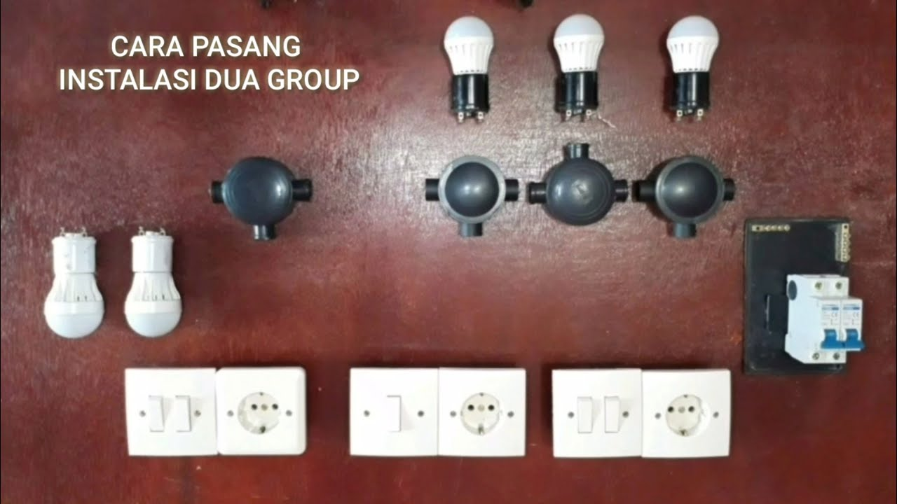 Instalasi listrik dua group (2 MCB)