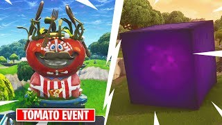 SECRET TOMATO EVENT? CUBE IS MOVING RIGHT NOW in Fortnite Battle Royale
