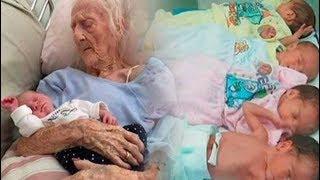 Mit 70 Jahren brachte sie Vierlinge zur Welt