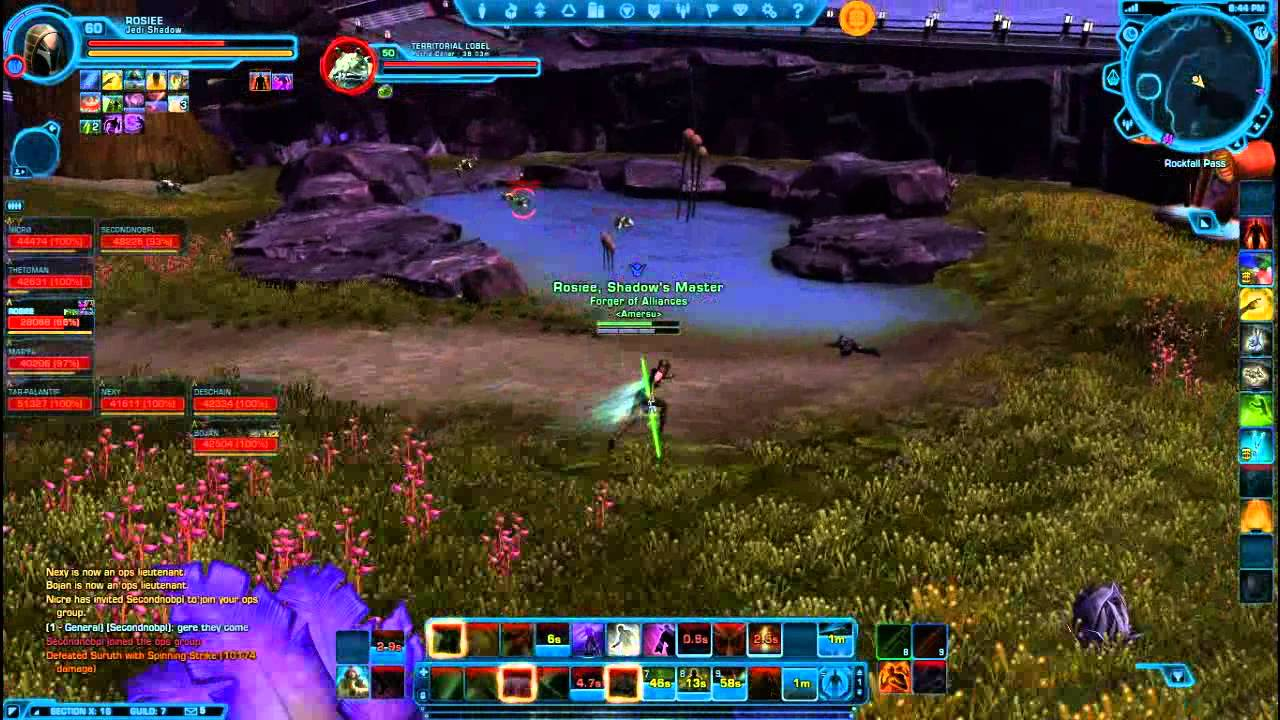 Swtor: Amersu Open world PvP (section x) - YouTube