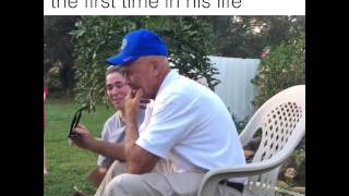 Grandad See's In Colour for the first Time!