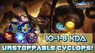 """""""Never Seen Someone Handsome With One Eye?"""" Cyclops Best Gameplay - Mobile Legends"""