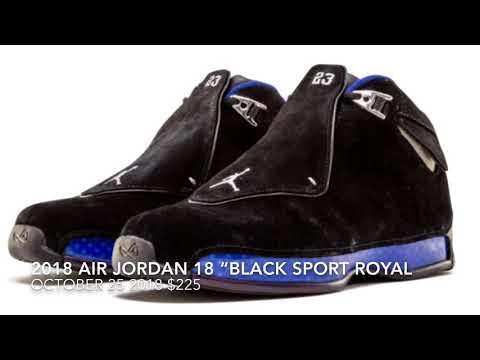 "9e066d5038a 2018 AIR JORDAN 18 ""BLACK SPORT ROYAL BLUE"" AKA THE BEST ONE - YouTube"