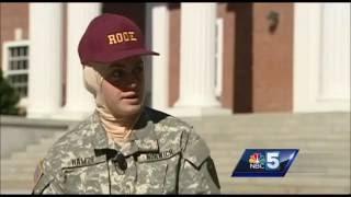 سانا حمزة أول طالبة مجحبة في أقدم كلية حربية أمريكية