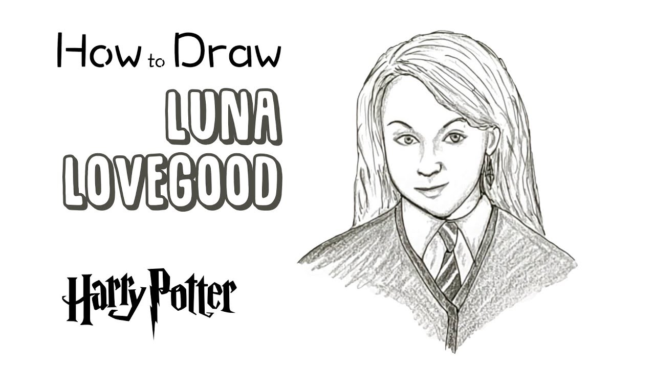 How To Draw Luna Lovegood From Harry Potter