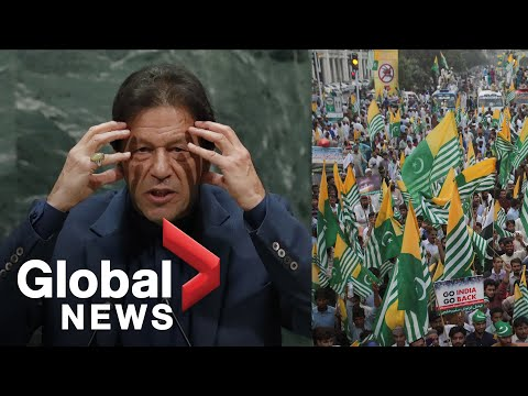 Pakistan PM warns 'bloodbath' in Kashmir as protesters in Lahore march against India