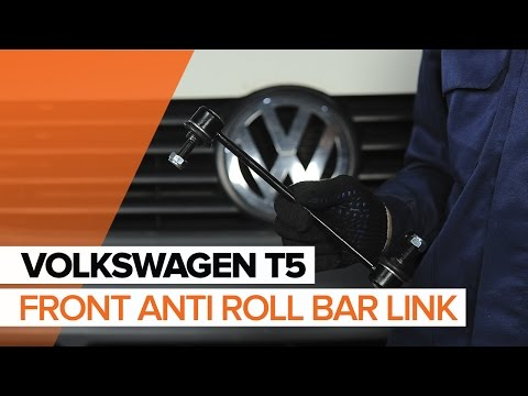 How to replace front anti roll bar link on VOLKSWAGEN T5 TUTORIAL | AUTODOC