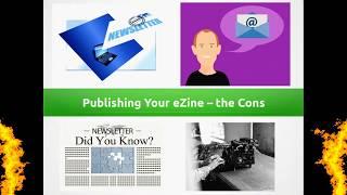 Publishing your ezine – the cons! #newslettermarketing # newsletterssites