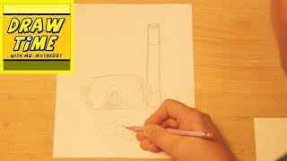 How to Draw a Swim Mask and Snorkel