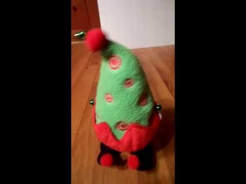 Racing Running Christmas elf tree animated plush w music by Sound N Light Animaltronics