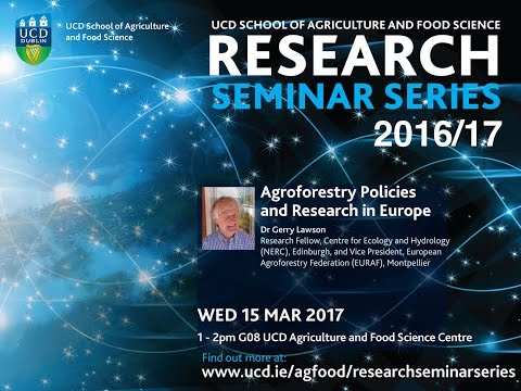 """Agroforestry Research in Europe"" by Gerry Lawson"