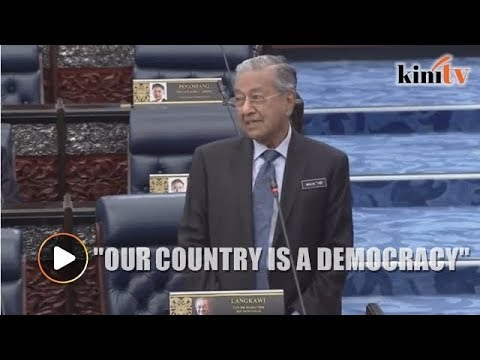 We are a democracy, says Mahathir in response to a question on royal veto
