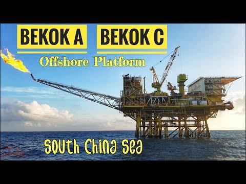 Bekok A and C Offshore Platform Petronas Malaysia - Pengeboran Minyak Lepas Pantai