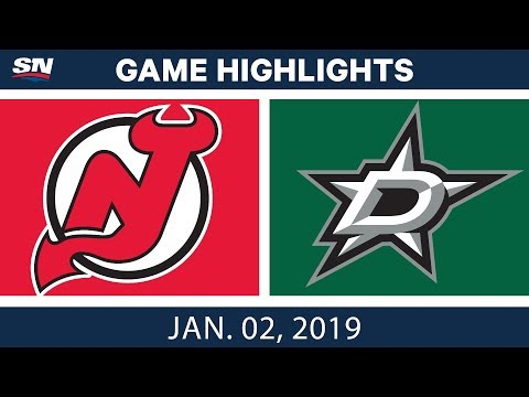 NHL Highlights | Devils vs. Stars - Jan. 2, 2019