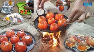 How To Make An EGG Omelette In A Tomato | Tomato OMELET |توماتو أومليت// Street Food | KikTV