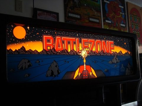 1980 Battlezone Arcade Game!  Atari Classic upright cabinet... gameplay, artwork overview