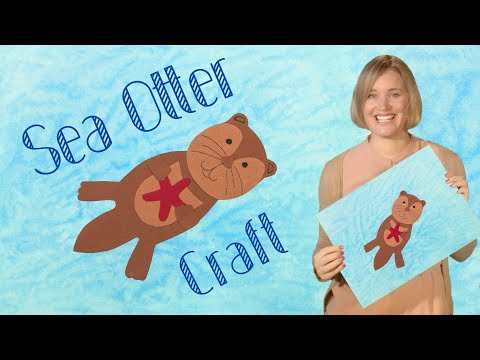 DIY Painting with Soap | A Sea Otter Craft for Kids | Fun Art Project