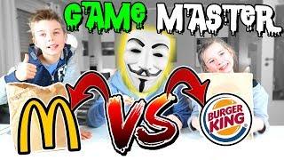 GAME MASTER Challenge #1 - Burger King vs. McDonalds Food Challenge - Lulu & Leon