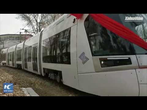 Explosion-proof light rail train rolls off assembly line in NE China