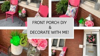 FRONT PORCH MAKEOVER // DIY CHAIRS // DECORATE WITH ME ON A BUDGET // TIME LAPSE