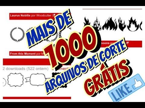1000 arquivos de corte grátis silhouette 1000 free cutting files