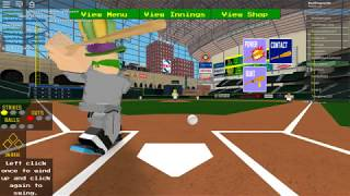 Me being bad at Roblox Baseball