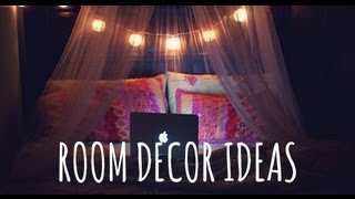 ♡ Diy Room Decor Ideas. Lighting + Wall Art! ♡