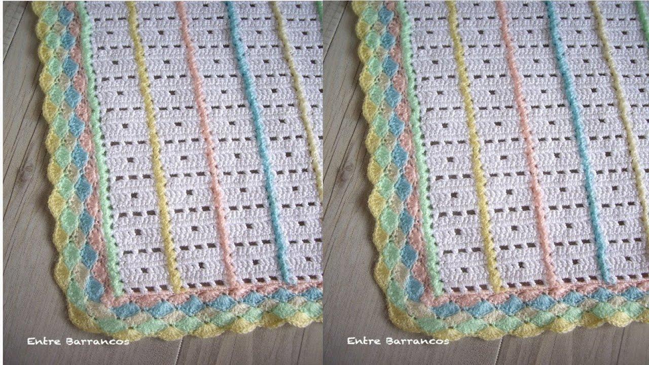 N 03 colchas tejidas a crochet para reci n nacidos youtube - Colchas tejidas a crochet ...