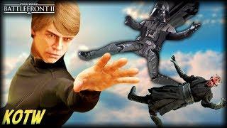 Star Wars Battlefront 2 TOP 5 KILLS OF THE WEEK (Luke's Epic Force Push!)