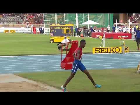 Jordan Diaz jumped 17.30 in the Boys' triple jump IAAF World U18 Championships Nairobi 201