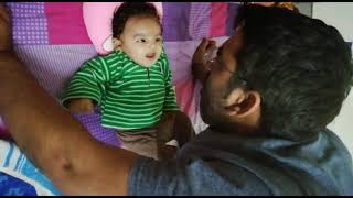 2 Months Baby Talks with her Father | Kids Random Clicks | Keya The Cute baby