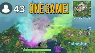 43 PLAYERS IN ONE GAME! Fortnite Highlights!
