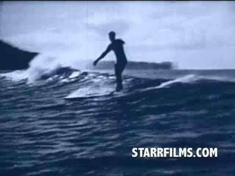 DUKE KAHANAMOKU surfing with DOUGLAS FAIRBANKS 1931