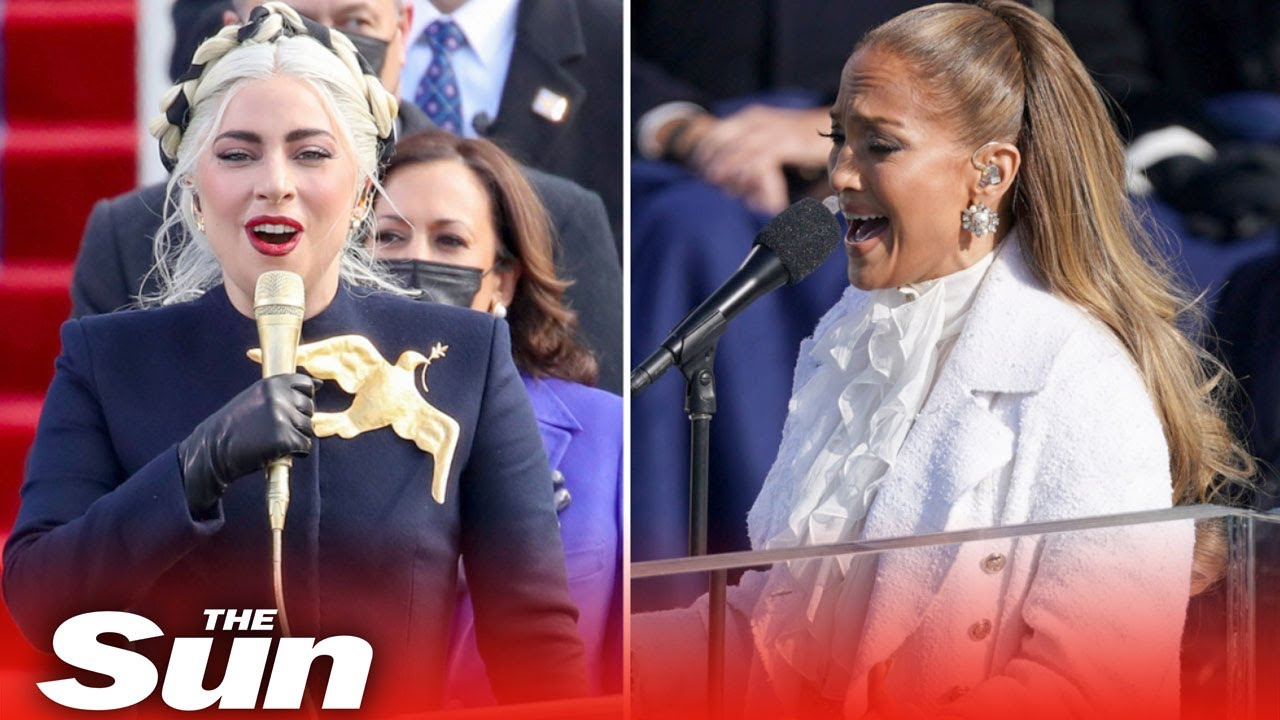 Lady Gaga, Jennifer Lopez and Garth Brooks sing at Biden's ...