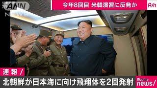 北朝鮮が飛翔体を2回発射 韓国軍発表(19/08/16)