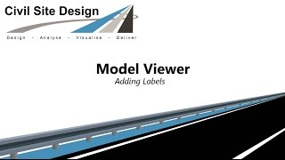 CIvil Site Design - Model Viewer Adding Labels
