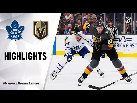 NHL Highlights | Maple Leafs @ Golden Knights 11/19/19