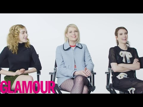 Emma Roberts Plays 'Who Knows You Best?' with Kiernan Shipka & Lucy Boynton | Glamour