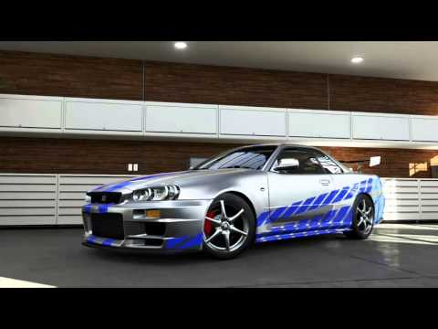 Cable Car Black And White Wallpaper Forza 5 Paul Walker Brian O Connor S Nissan Skyline From