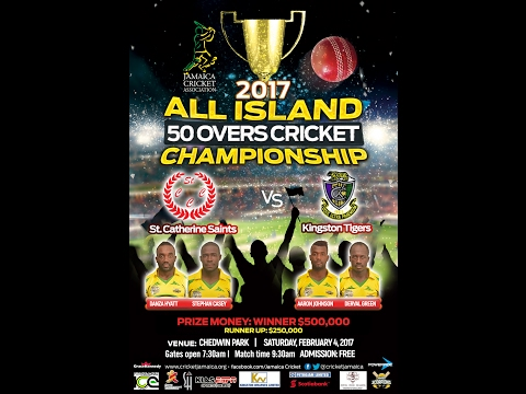 Jamaica's All Island 50 Over Cricket  Championship Finals 2017