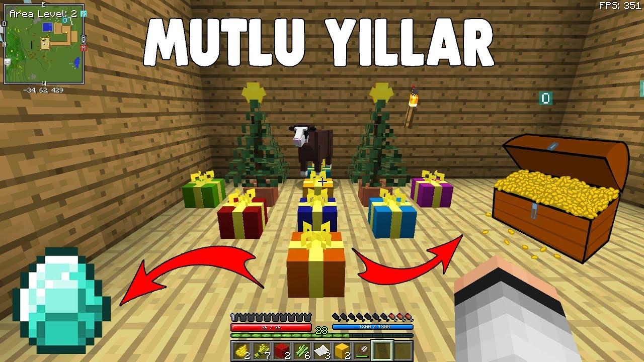 3.Sezon Minecraft Modlu Survival Bölüm 14 - YILBAŞI AĞACI YAPTIK 🎄