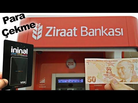 İninal Kart Ziraat Bankası - İninal Ziraat Para Çekme - İninal Kart Ziraat Atm - İninal 2020